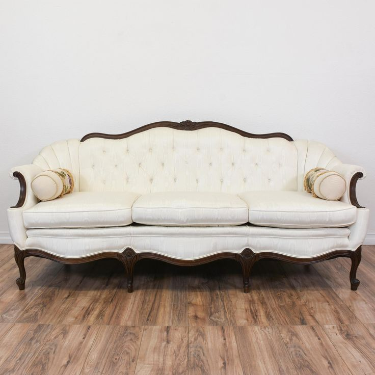 This French Victorian Inspired Sofa Is Upholstered In A Durable Shiny Moire  Fabric With A Shiny