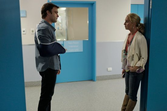 Offspring Season 3; Episode 10 Nina and Patrick share a sad moment