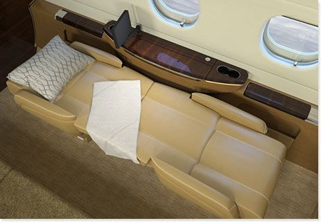 Seat Berthing of the Legacy 500 Midsize Corporate Jet
