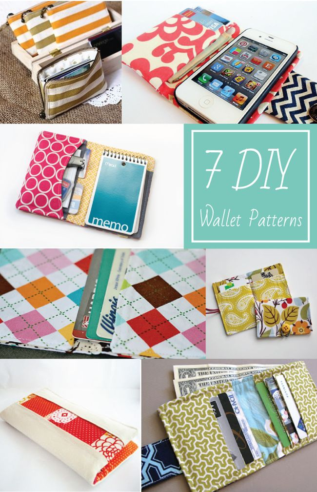 7 DIY Wallet Patterns - EverythingEtsy.com #sewing #pattern