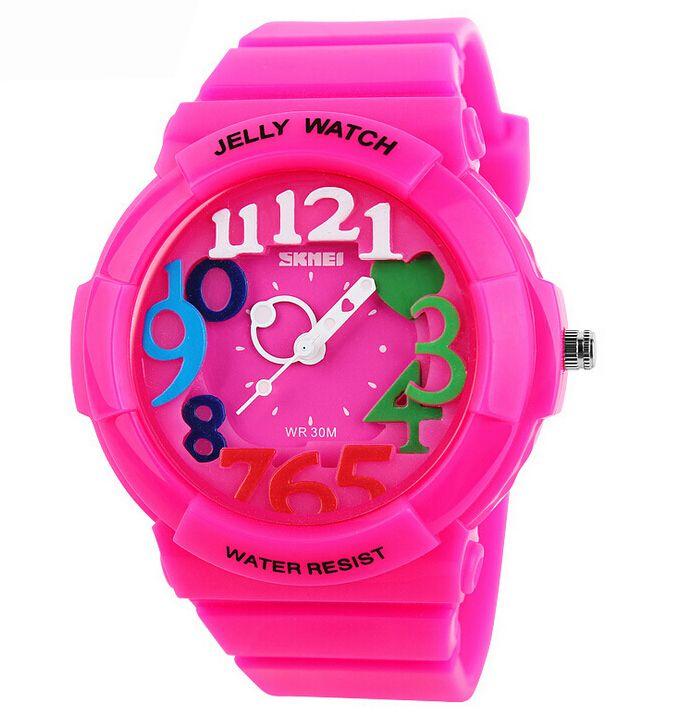 Новая Мода детские Спортивные Часы 30 м Водонепроницаемый Плавать, Нырять Кварцевые Желе Часы Для Мальчика Девушки Студенты Наручные Часы