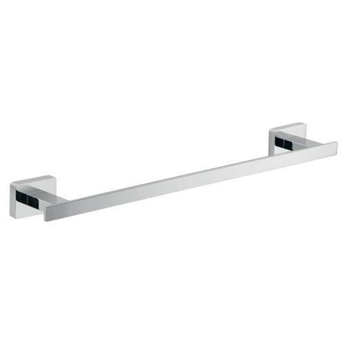 14 inch square polished chrome towel bar towel