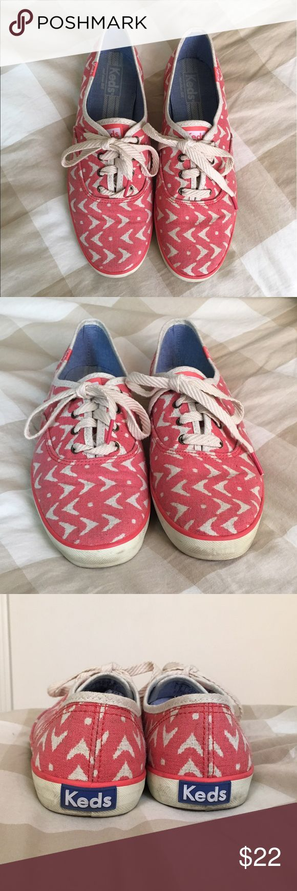 Keds Champion iKat Sneaker Super cute Keds Champion iKat shoes that are perfect for spring and summer! Fun print and really comfortable. Only worn maybe 5-6 times and in great condition. Size 9.5. Color: Coral/Pink Keds Shoes Sneakers