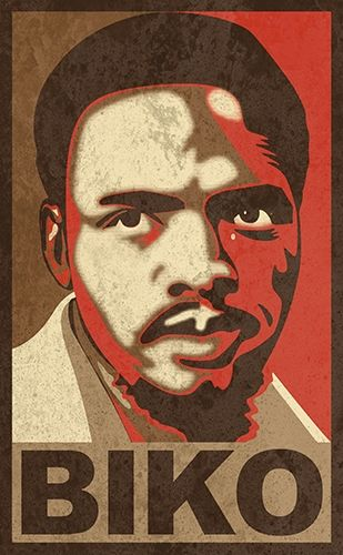 Biko ... Adrian Grant-Smith's digital portrait of Steve Biko (18 Dec 1946 - 12 Sep 1977) the South African anti-apartheid activist, who founded the Black Consciousness Movement.