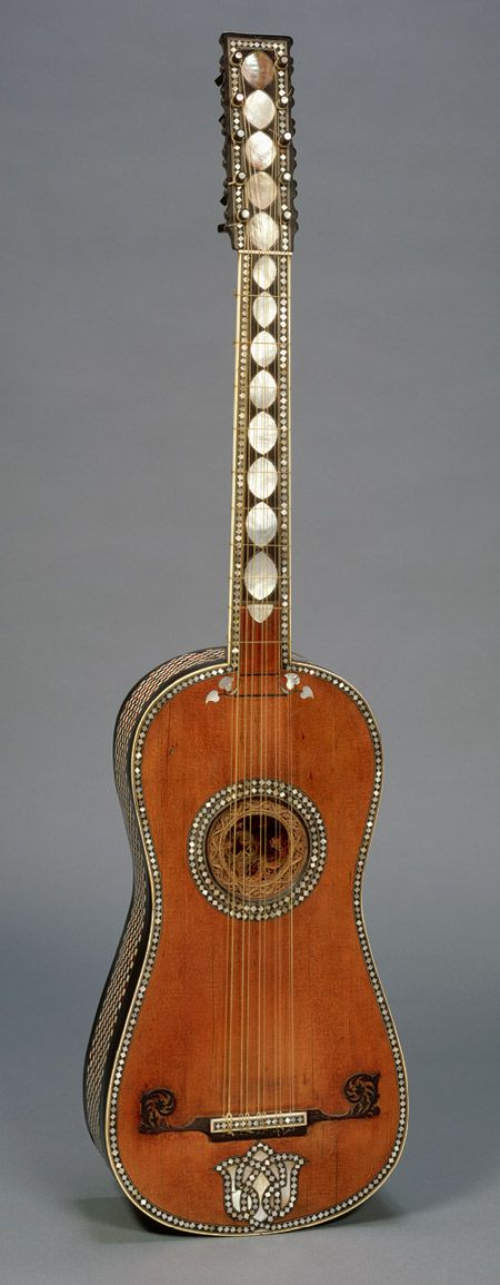Guitar, late 17th century Attributed to Giacomo Ertel (German, active in Italy, ca. 1646–1711) Rome