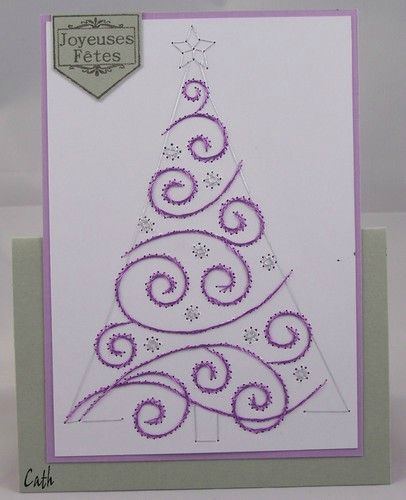 Broderie sapin