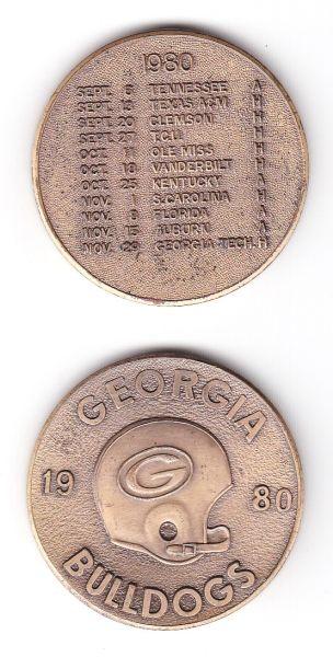 1980 UGA Schedule Coin