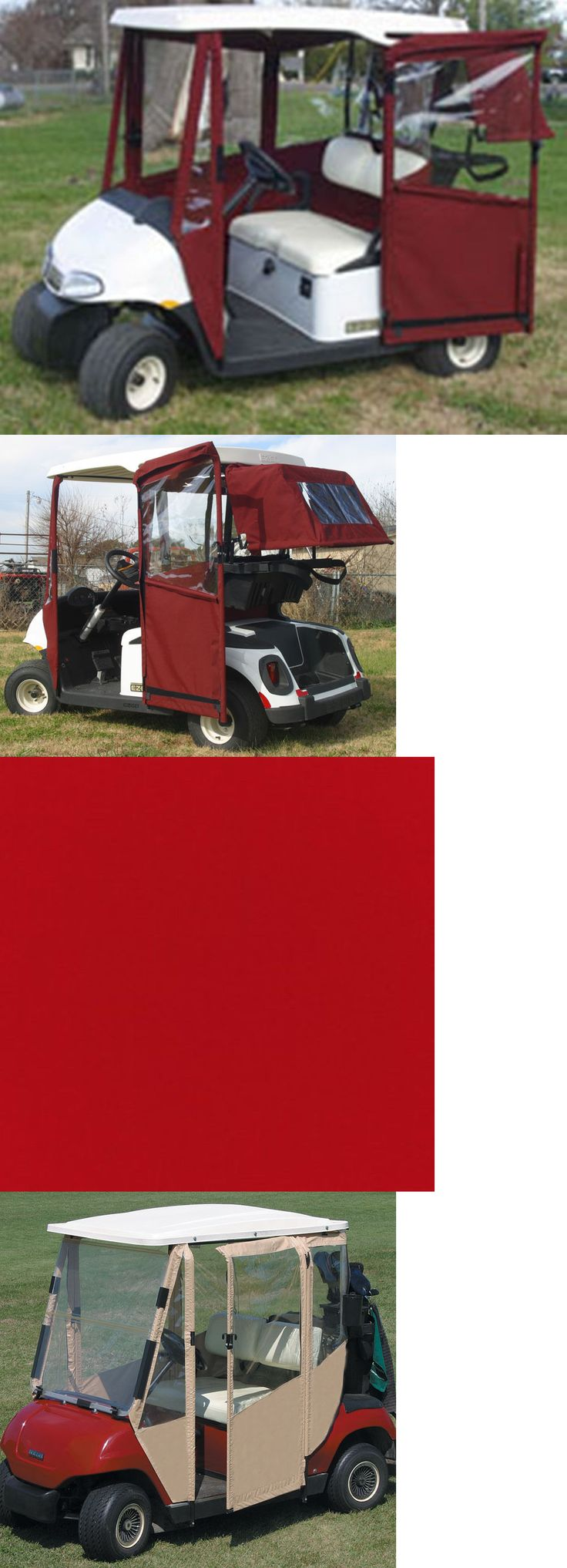 Other Golf Accessories 1514: Doorworks Club Car Prec Logo Red Sunbrella Golf Cart Enclosure Hinged Door -> BUY IT NOW ONLY: $669.0 on eBay!