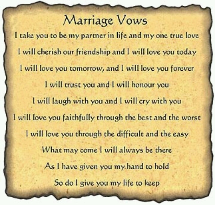 LOVE THESE VOWS!
