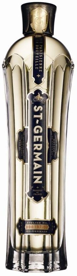 St-Germain: liqueur made from elderberry flowers. The unusual flavor has been reckoned as containing elements of peach, orange, grapefruit, and pear. It is is commonly mixed with sparkling white wine.