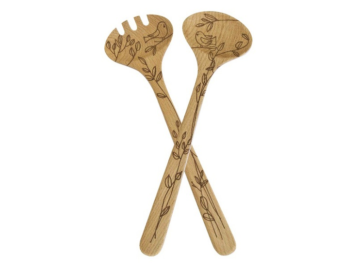 Beechwood Bird Salad Servers: Kitchen Utensils, Birds Salad, Kitchens Utensils, Salad Server, Beechwood Birds
