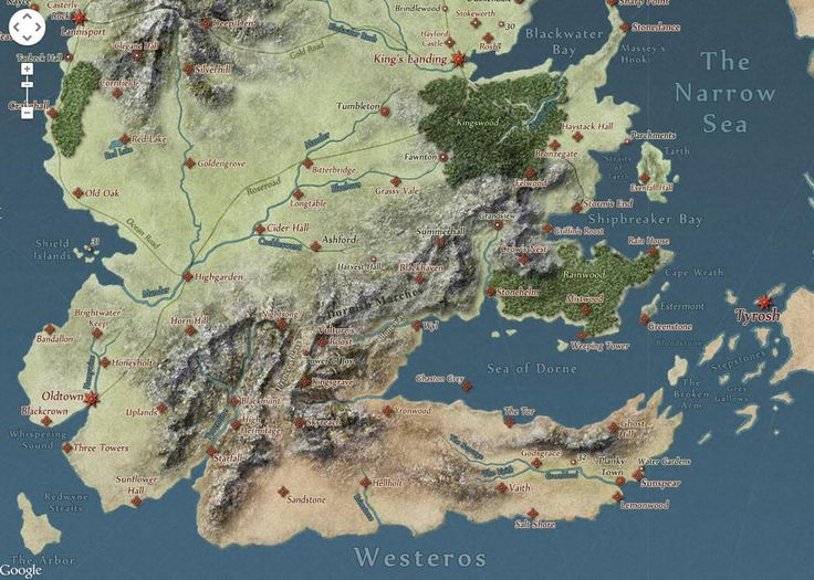 Interactive Westeros and Essos map
