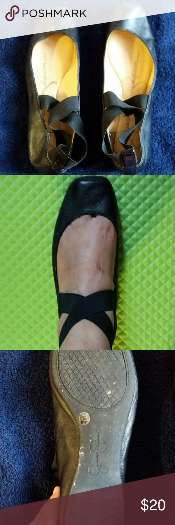 Jessica Simpson ballet flats black ballet style shoes only worn few times Jessica Simpson Shoes Flats & Loafers