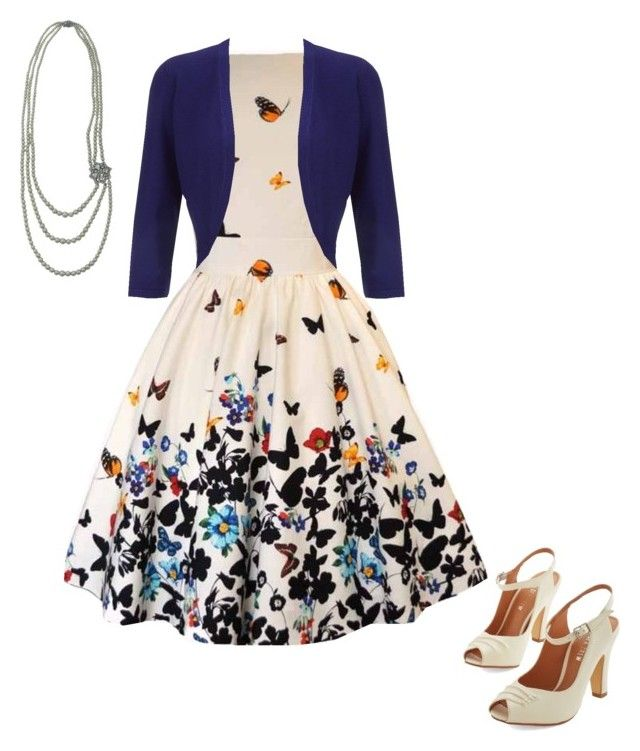 """""""Vintage butterfly"""" by my-gothic-valentine ❤ liked on Polyvore featuring Chelsea Crew, Hobbs and vintage"""