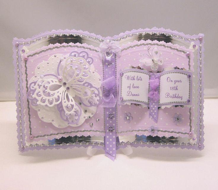 bookatrix personalised 16th/18th/21st/30th birthday card,plastic stand & box