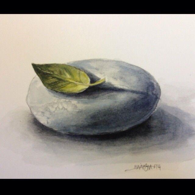Leaf and rock.  #watercolor #watercolour #watercolorpainting #aquarelle #painting #leaf #rock #nature #zen #art #artwork #artnerd #artfido #illustration #design #graphicdesign #drawing #daily_art #nawden #nofilter #erasermag #illustrateyourworld #daily_art #instaart #artist_magazine