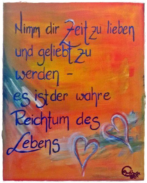 Acrylmalerei - Acrylbild Nimm dir Zeit zu lieben - ein Designerstück von HOAMELIGundSCHEAN bei DaWanda