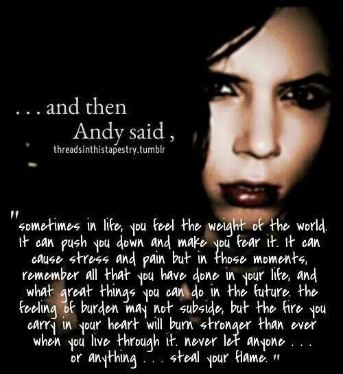 Andy Black Veil Brides Quotes. QuotesGram