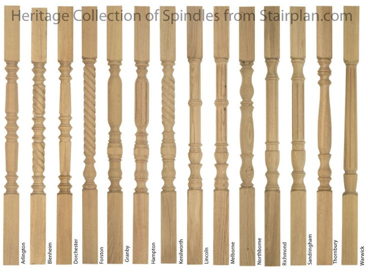 types of wood banisters - Google Search