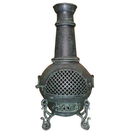 Blue Rooster Gatsby Cast Aluminum Gas Chiminea
