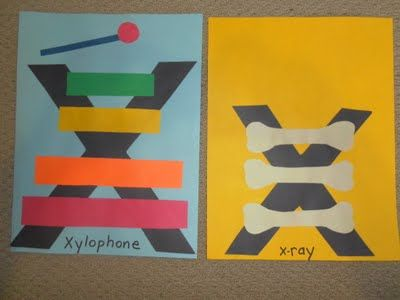 X for xylophone and xray
