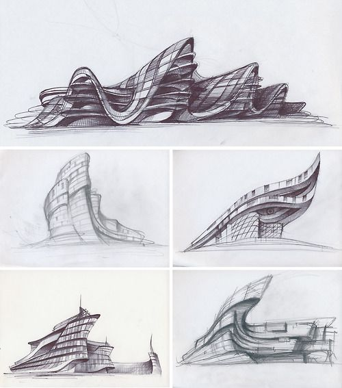 Concept sketch sketch gallery of architecture interior for Modern architecture concept