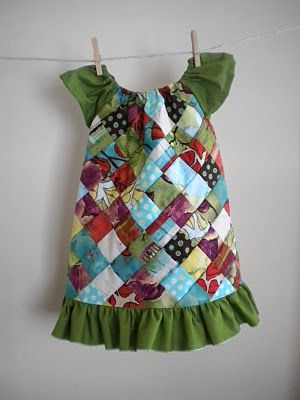 Quilted girls dress pattern tutorial link. Combining my love of quilting with my love of sewing for my granddaughters. Perfect!