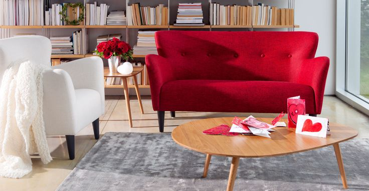 Happy Picasso Red Loveseat - Loveseats - Bryght | Modern, Mid-Century and Scandinavian Furniture