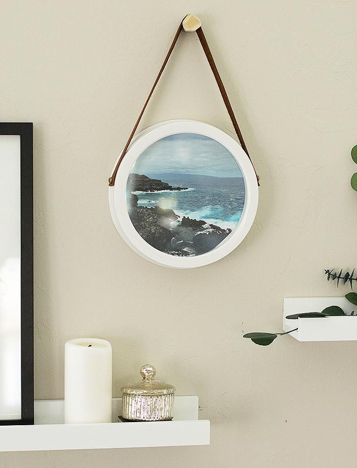 DIY Upcycled Clock Frame by designsponge #diy #nautical