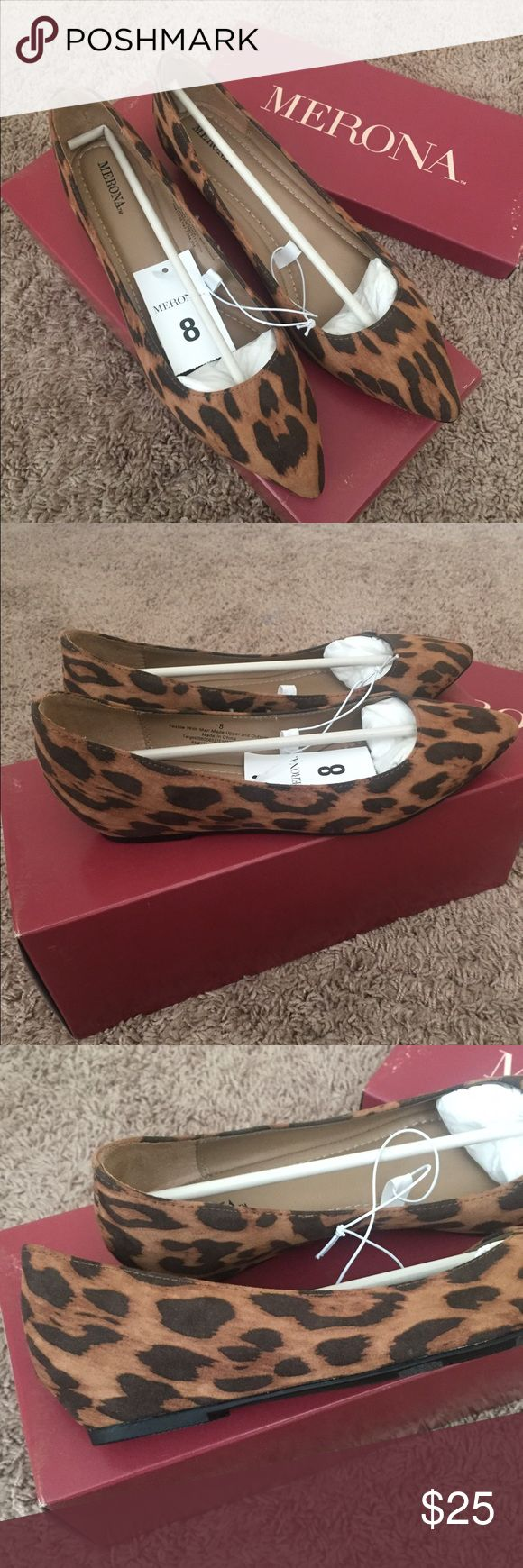 Leopard Print Wedges These are Merona leopard print wedges. They're size 8, brand new with tag. Merona Shoes Wedges