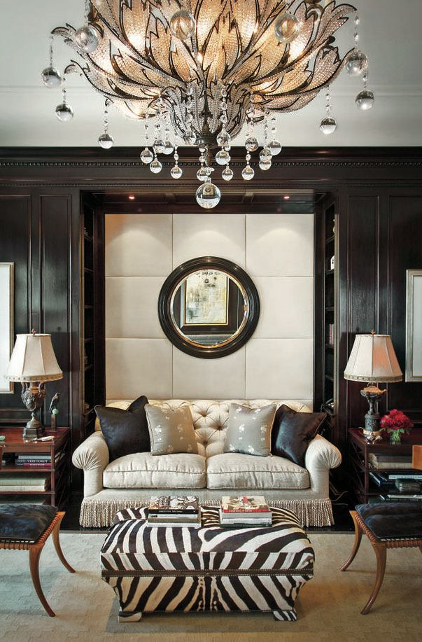 Luxurious Interior - SO BEAUTIFUL!! - LOVE THIS GLORIOUS & ECLECTIC ROOM WITH FABULOUS CHANDELIER AND STUNNING DECOR!! #️⃣