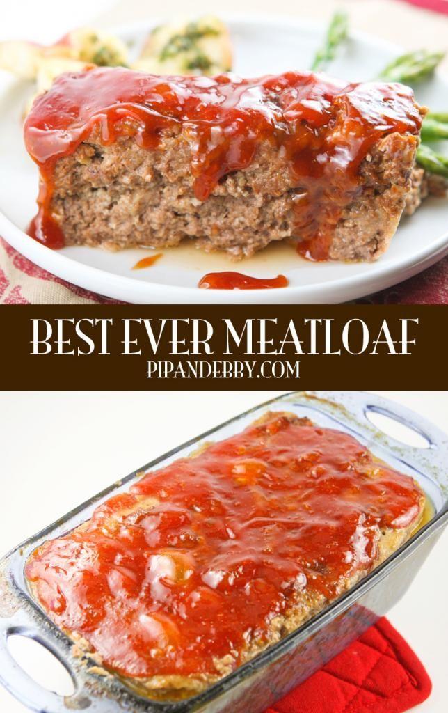 Best EVER Meatloaf - this is the juiciest, tastiest meatloaf I've ever eaten!