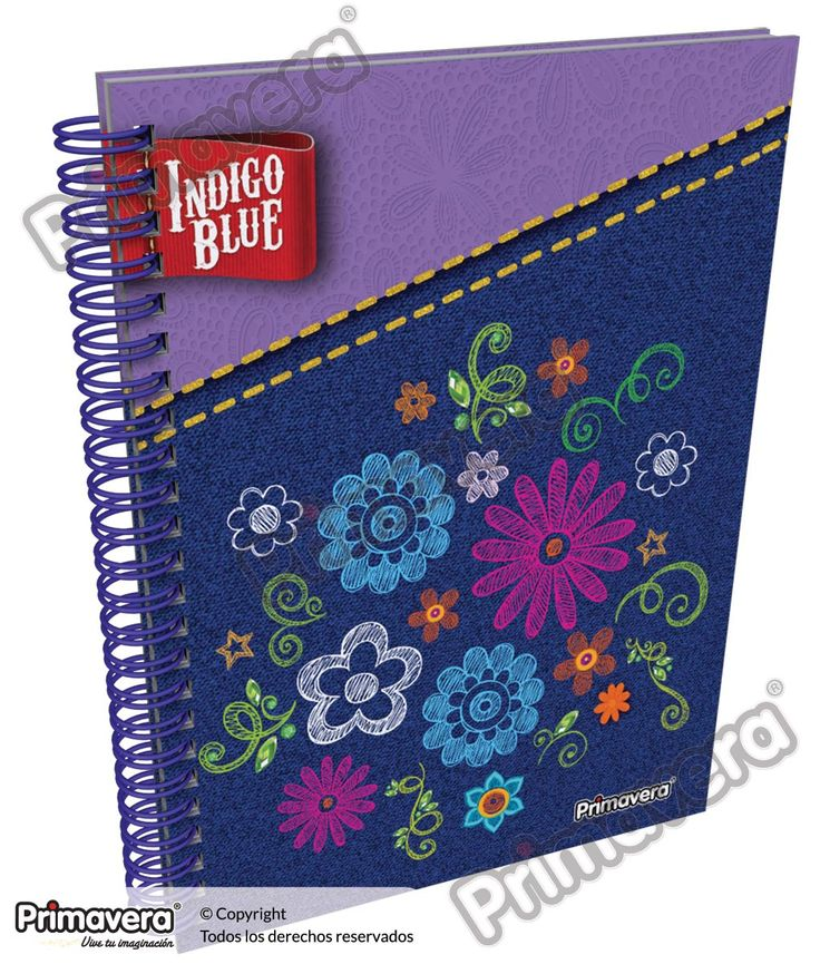 Cuaderno Pasta Dura Indigo Blue http://escolar.papelesprimavera.com/product/cuaderno-pasta-dura-indigo-blue-primavera-6/