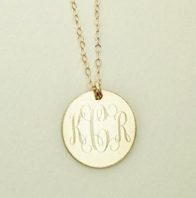Gold Filled Personalized Necklace This gold filled dainty #necklace makes a beautiful present for your wife, mother or friend. They are also perfect for for bridesmaids pres... #thepersonalexchange #monogram #bridesmaid #jewerly #monogrammed ➡️ http://jto.li/BheqP