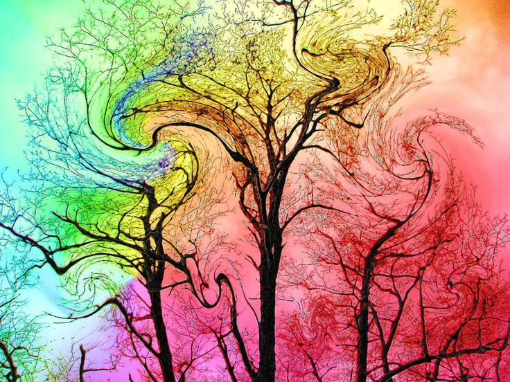 Trippy Solar System Art - Pics about space | Trees ...