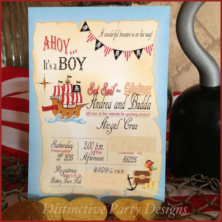 Pirate baby shower party sign! See more party ideas at CatchMyParty.com!