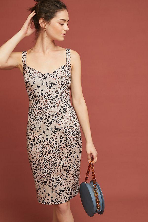 Leopard Sheath Dress Dresses Wedding Guest Dress Guest Dresses