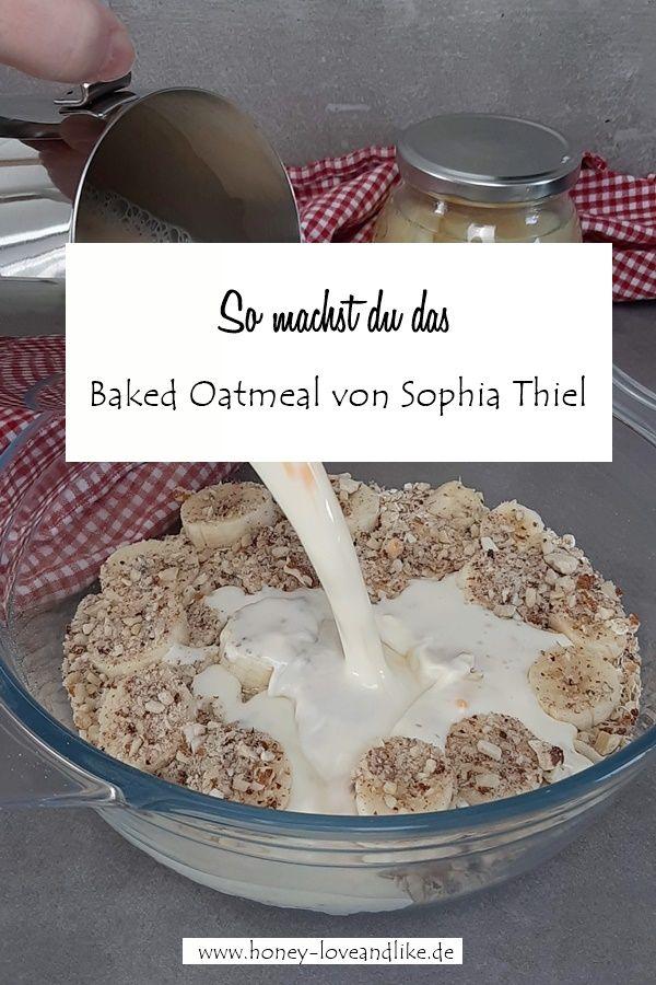 Sophia Thiel Baked Oatmeal mit Birnen und Beeren aus der Shape 2019