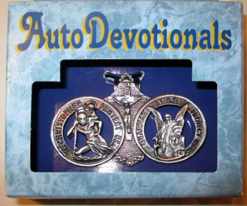 Christian Vintage Collectible St Christopher Car Medal Crucifix Guardian Angel Vintage Crucifix Crystal Glass Paperweight Vintage Catholic Prayer Book Vintage King James Bible Torino Prayer Book Box Vintage Porcelain Bell Vintage Brass Plaque Pope John Vintage Church Sunday School Poster Sign Inspirational Books Devotionals Max Lucado Chicken Soup Vintage Trinket Box Dish Christmas Candle Caroler Vintage