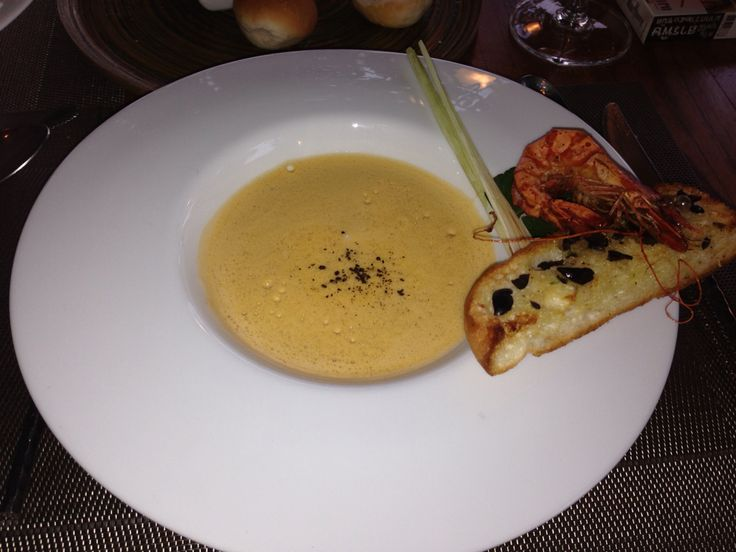 Lobster soup Thailand