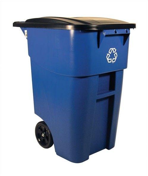 Brute Rollout 50-Gal Industrial Recycling Bin