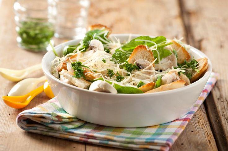 Ensalada de espinacas, champignones y parmesano - Maru Botana