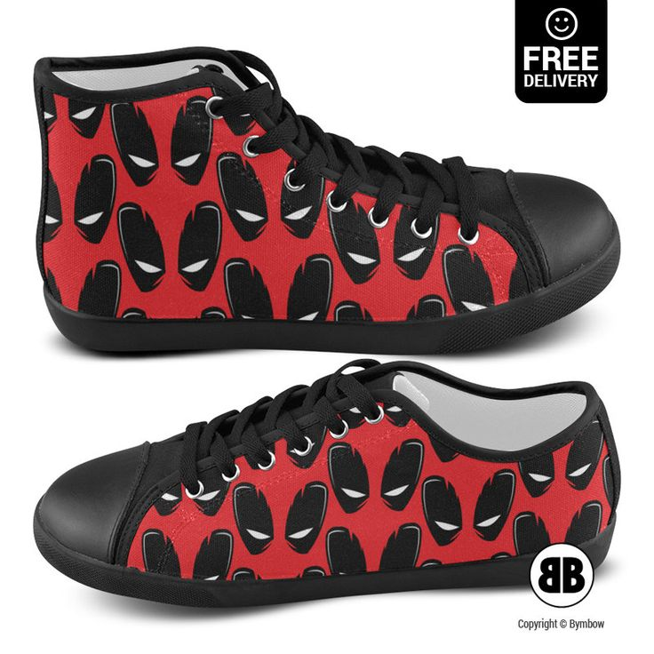 Deadpool shoes, Comics sneakers, Marvel converse, Funny canvas shoes, High  top or