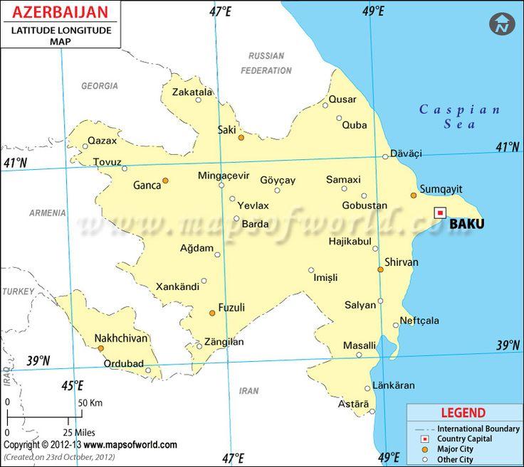85 best latitude longitude maps images on pinterest latitude latitude and longitude of azerbaijan is 40 degrees n and 47 degrees e find azerbaijan latitude and longitude map showing comprehensive details including gumiabroncs Choice Image