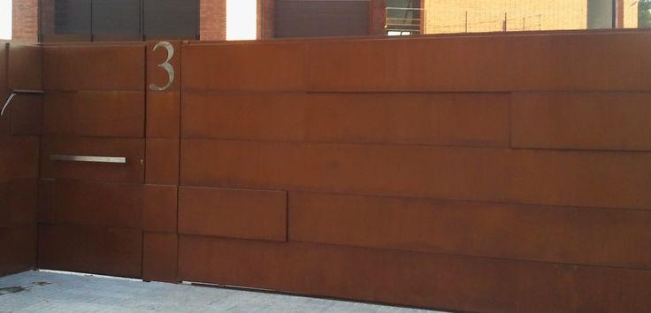 Pin by metalisteria tecmagen on puertas de acero corten - Acero corten ...