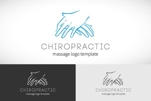 Chiropractic Massage Logo Template by createvil on @creativemarket