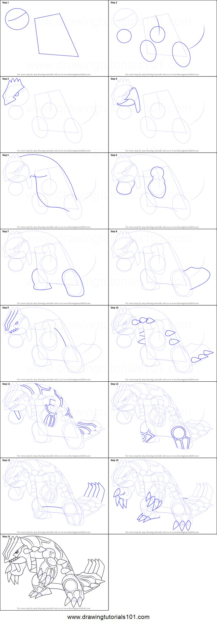 How To Draw Groudon From Pokemon Printable Step By Step Drawing Sheet Drawingtutorials101 Com Drawing Sheet Drawings Pokemon Drawings