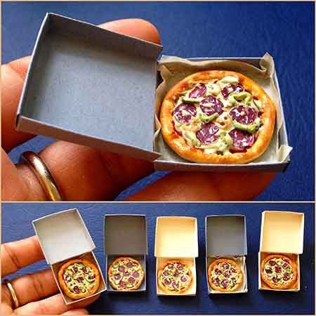Pizza by Miniarthouse by MiniArtHouse on Etsy https://www.etsy.com/listing/237752907/pizza-by-miniarthouse