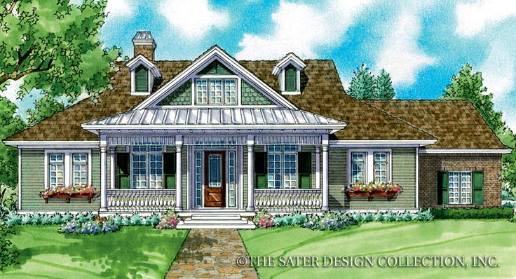 Whitney Home Plan Sater Design Collection Luxury House