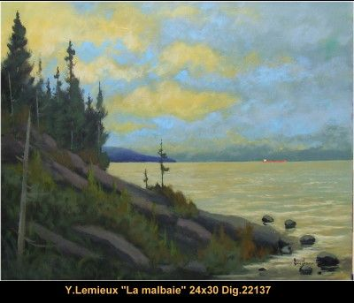 Original oil painting on canevas by Yvon Lemieux #yvonlemieux #art #artist #canadianartist #quebecartist #originalpainting #fineart #figurativeart #oilpainting #landscape #seashore #oilpainting #balcondart #multiartltee